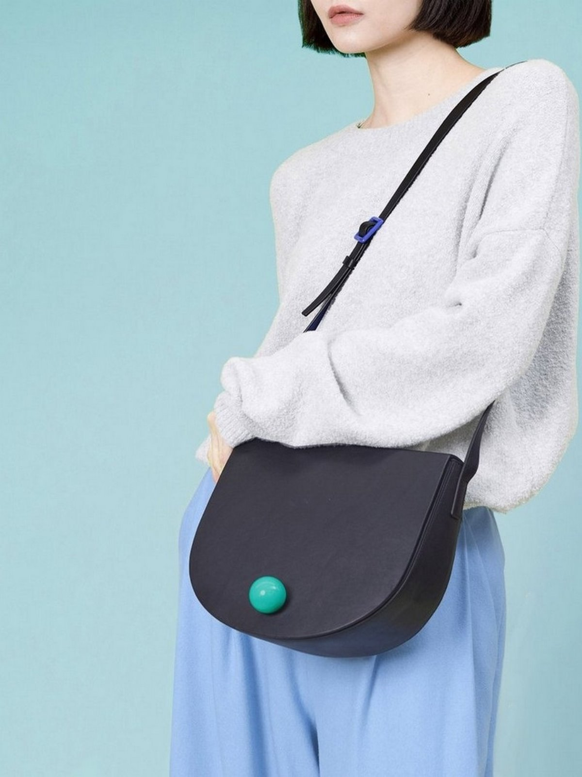 더 조엘르 | MatterMatters - [MATTER MATTERS] 홍콩인기 새들백  - Large Deco Saddle Bag Black