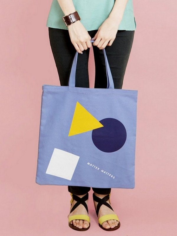 더 조엘르 | MatterMatters - [MATTER MATTERS] 홍콩인기 캔버스 토트백 - Bauhaus Canvas Tote Bag Purple Blue