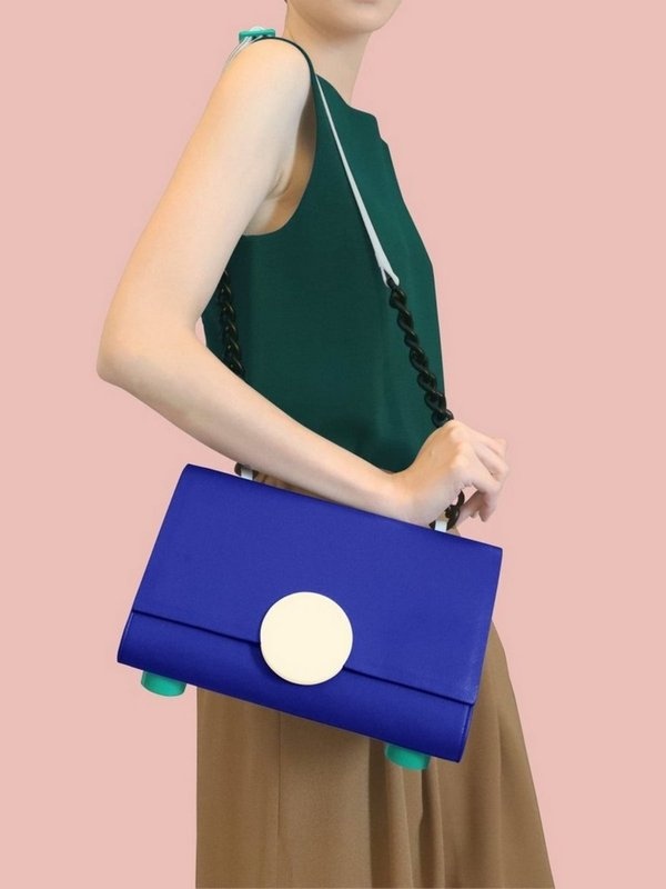 더 조엘르 | MatterMatters - [MATTER MATTERS] 홍콩인기 숄더백  - Pythagoras Shoulder Bag Purple Blue