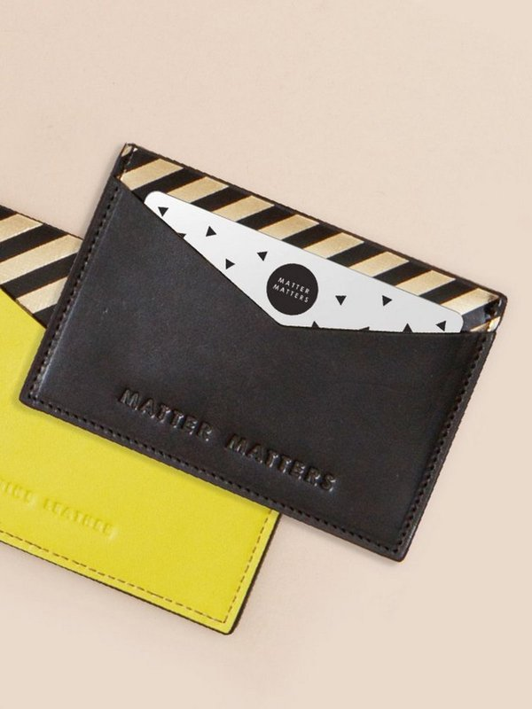 더 조엘르 | MatterMatters - [MATTER MATTERS] 디자인 카드지갑 - The M Card Holder Black/Yellow