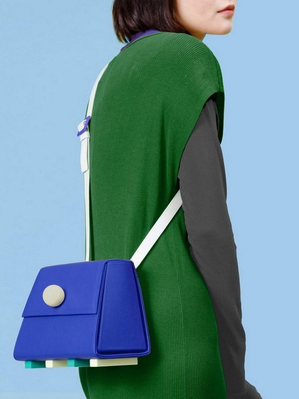 더 조엘르 | MatterMatters - [MATTER MATTERS] 홍콩인기 숄더백  - Mini Trapezoid Shoulder Bag Blue