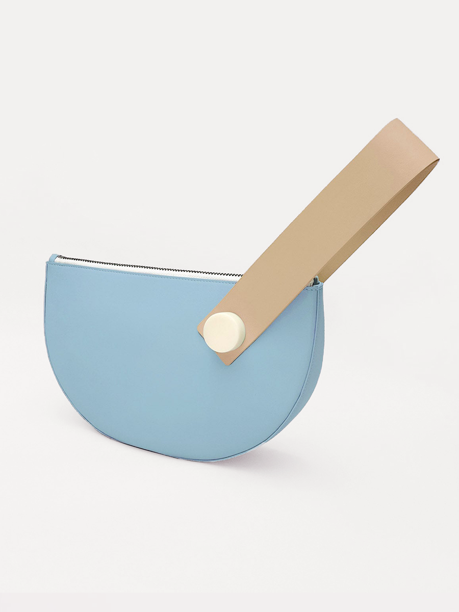 더조엘르 | MatterMatters - [MATTER MATTERS] 홍콩인기 클러치백  - Half Moon Clutch Light Blue/Tan