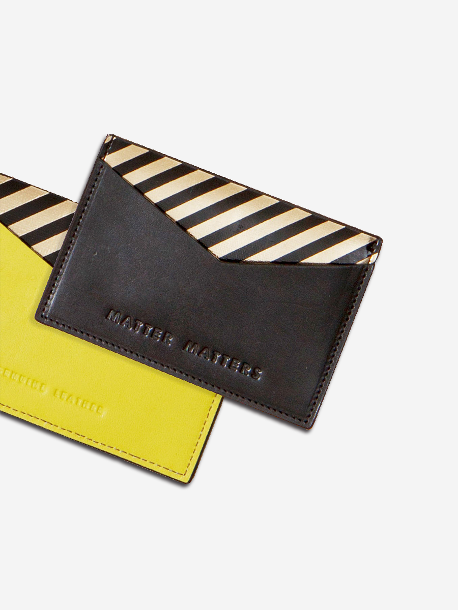 더조엘르 | MatterMatters - [MATTER MATTERS] 디자인 카드지갑 - The M Card Holder Black/Yellow