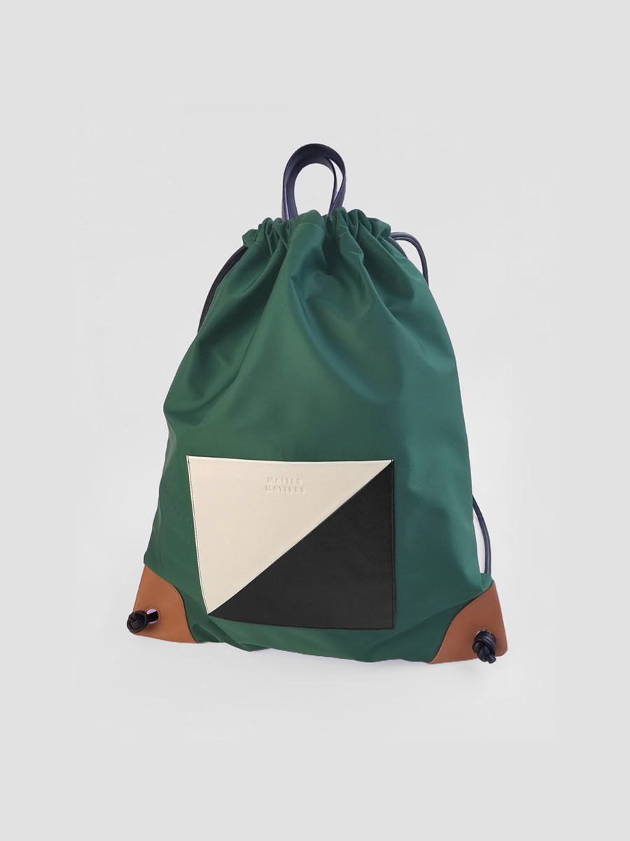 더조엘르 | MatterMatters - [MATTER MATTERS] THE SQUARE - DRAWSTRIG BACKPACK • GREEN
