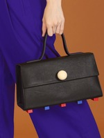 더조엘르 | MatterMatters - [MATTER MATTERS] TRAPEZOID SATCHEL BAG • BLACK WITH STRAP