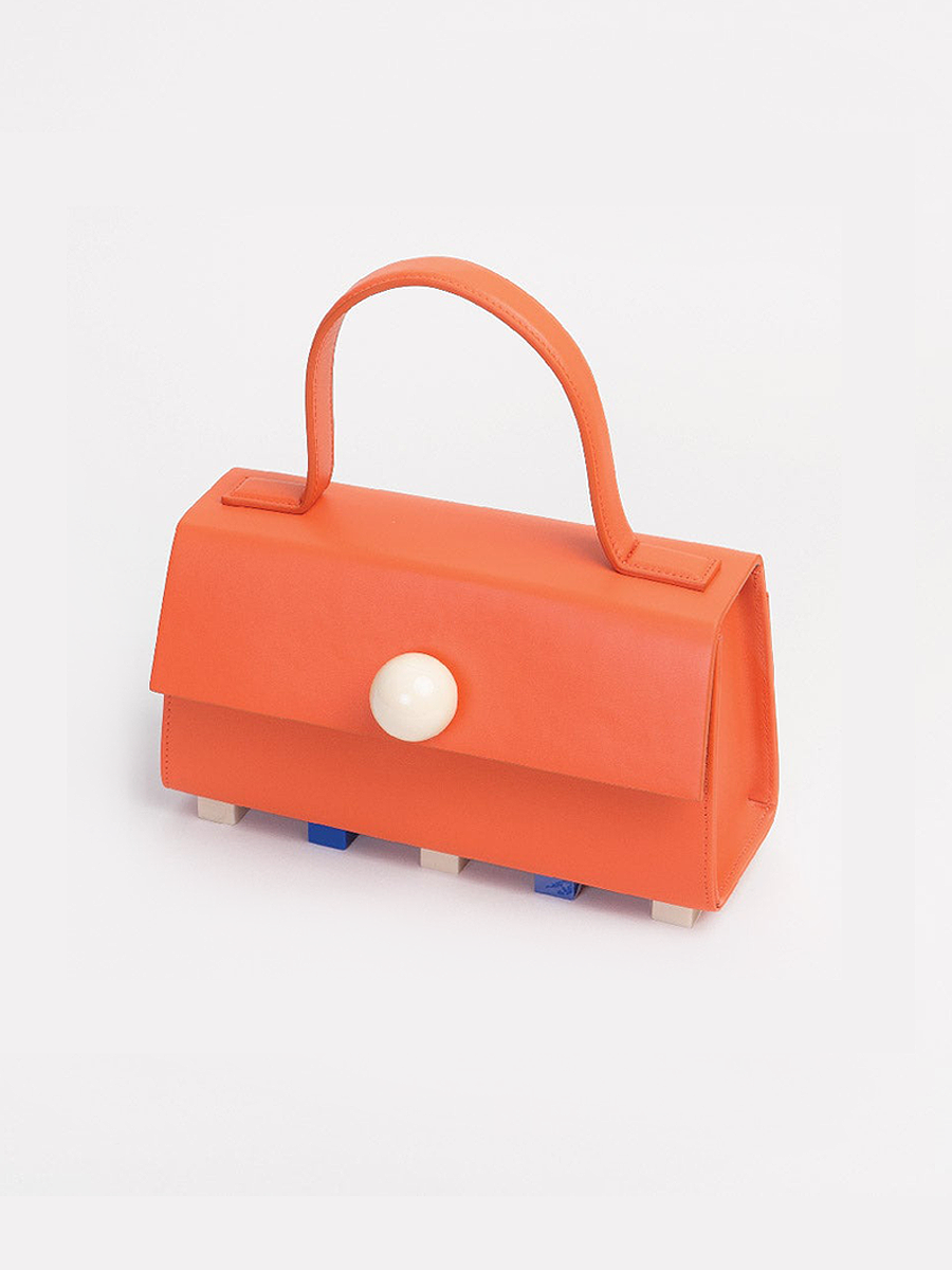더조엘르 | MatterMatters - [MATTER MATTERS] MINI TRAPEZOID SATCHEL BAG • ORANGE WITH STRAP